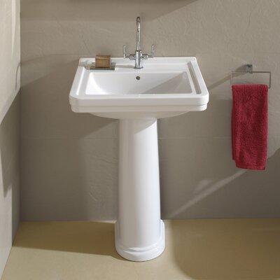 Universal 24 Pedestal Bathroom Sink with Overflow