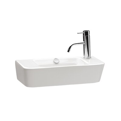 Emma Ceramic 20 Wall Mount Bathroom Sink with Overflow