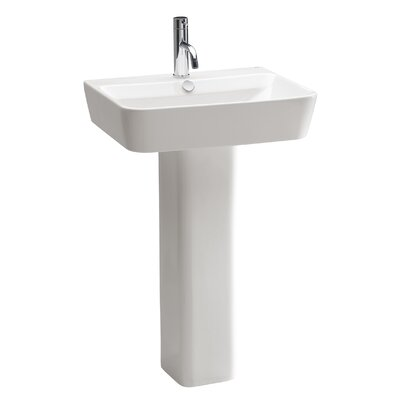 Emma 20Pedestal Bathroom Sink with Overflow
