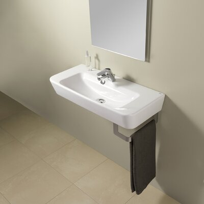 Emma 32? Wall Mounted Bathroom Sink with Overflow