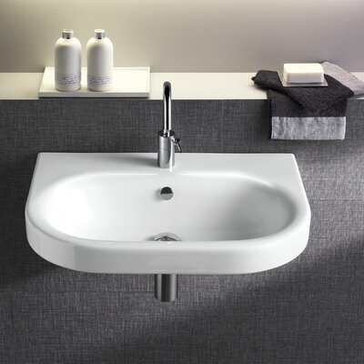 Daytime 22 Wall Mounted Bathroom Sink with Overflow