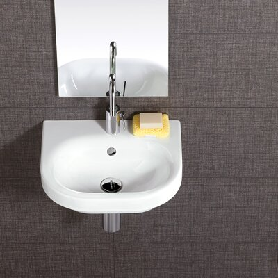 Daytime 18 Wall Mounted Bathroom Sink with Overflow