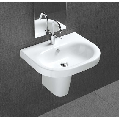 Pro Vitreous China 22 Wall Mount Bathroom Sink with Overflow