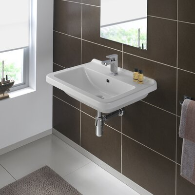 Erika 24 Wall Mounted Bathroom Sink with Overflow