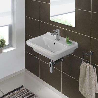 Erika 22 Wall Mounted Bathroom Sink with Overflow