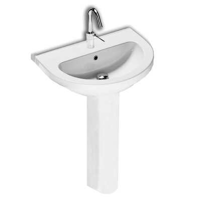 Erika 24 Wall Mounted Bathroom Sink with Overflow