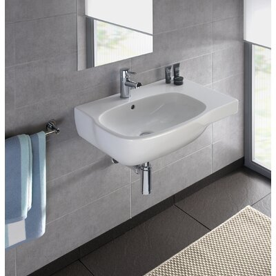 Moda Vitreous China 26 Wall Mount Bathroom Sink with Overflow