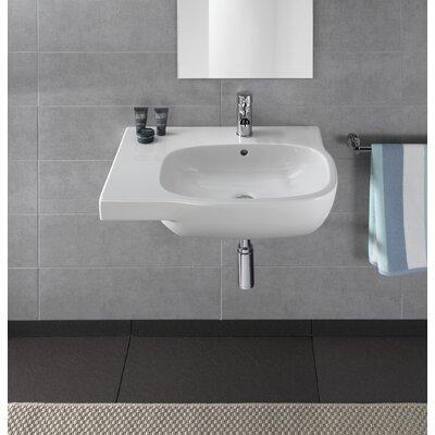 Moda Vitreous China 26 Wall Mount Bathroom Sink with Overflow