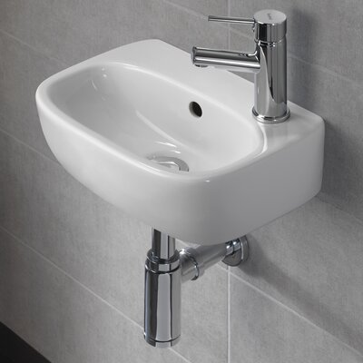 Moda Vitreous China 15 Wall Mount Bathroom Sink with Overflow