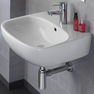 Moda Vitreous China 20 Wall Mount Bathroom Sink with Overflow