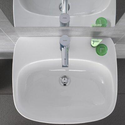Moda Vitreous China 22 Wall Mount Bathroom Sink with Overflow
