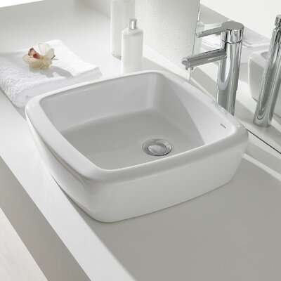 Universal Eos Square�Vessel�Bathroom�Sink with Overflow