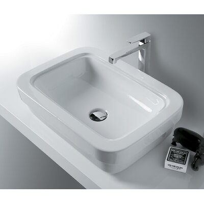 Leavitt Evo Rectangular�Vessel�Bathroom�Sink with Overflow