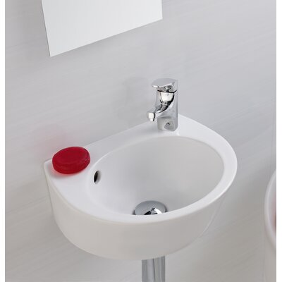 Universal Vitreous China 15 Wall Mount Bathroom Sink with Overflow