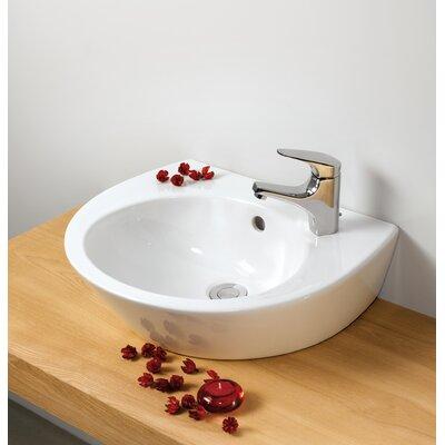 Street U-Shaped Vessel Bathroom Sink with Overflow