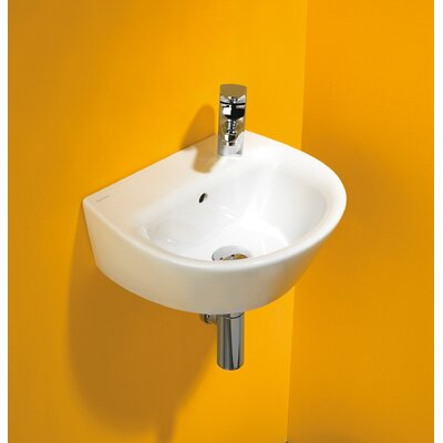 Universal Vitreous China 16 Wall Mount Bathroom Sink with Overflow