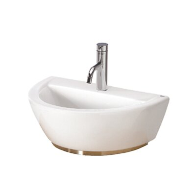 Universal U-Shaped Vessel Bathroom Sink with Overflow