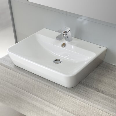 Emma Vitreous China 22 Wall Mount Bathroom Sink with Overflow