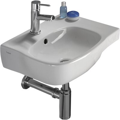 Moda Vitreous China 18 Wall Mount Bathroom Sink with Overflow