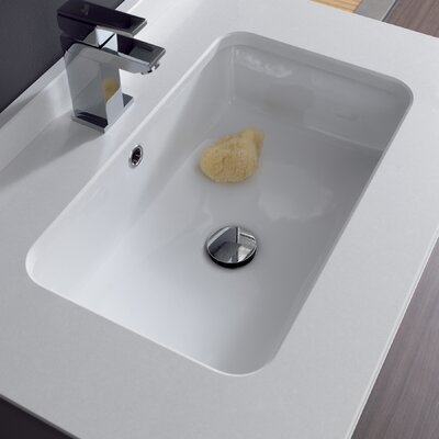 Traffic Agres Ceramic Bathroom Sink in White