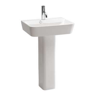 Emma Ceramic 22 Pedestal Bathroom Sink with Overflow