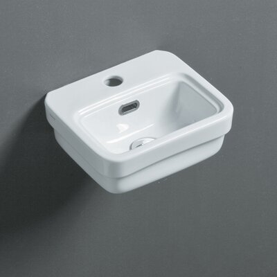 Leavitt Ceramic Rectangular Vessel Bathroom Sink with Overflow