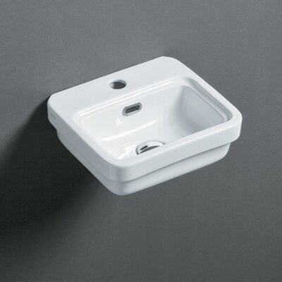 Leavitt Evo 34 13 Wall Mounted Bathroom Sink with Overflow
