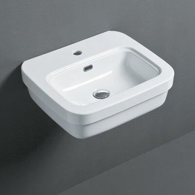Leavitt Evo 53 21 Wall Mounted Bathroom Sink with Overflow