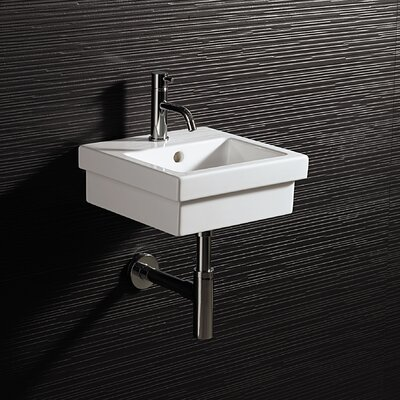 Area Boutique Ceramic Rectangular Drop-In Bathroom Sink with Overflow
