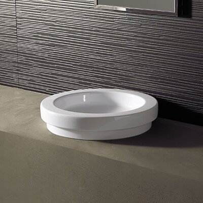 Area Boutique Ceramic Circular Drop-In Bathroom Sink