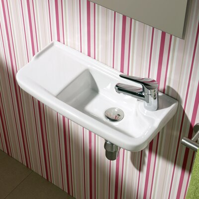 Universal Oxigen Ceramic 20 Wall Mounted Bathroom Sink with Overflow
