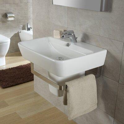 Emma Semi 22 Wall Mounted Bathroom Sink with Overflow