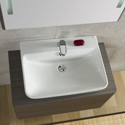 Emma Ceramic Square�Vessel�Bathroom�Sink with Overflow