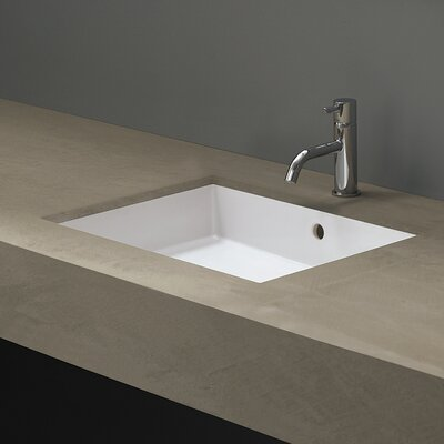 Area Boutique Cubic Undermount Bathroom Sink with Overflow