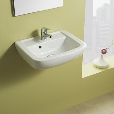 Universal Smart 18 Wall Mounted Bathroom Sink with Overflow