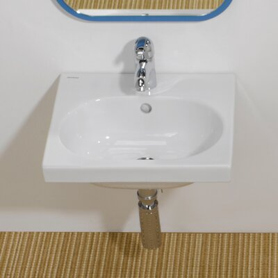 Traffic Ceramic 17 Wall Mount Bathroom Sink with Overflow