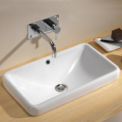 Traffic Meridian Bathroom Sink with Push-Touch Drain