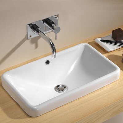 Traffic Self Rimming Bathroom Sink