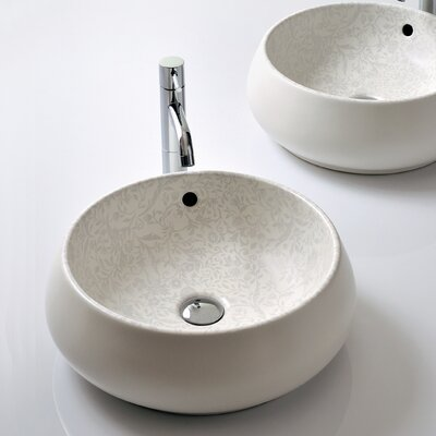 Area Boutique Tulip Bathroom Sink with Push-Touch Drain