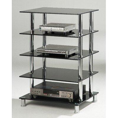 HiFi-Rack | Wohnzimmer > TV-HiFi-Möbel > HiFi-Racks | Schwarzchrom | Orren Ellis