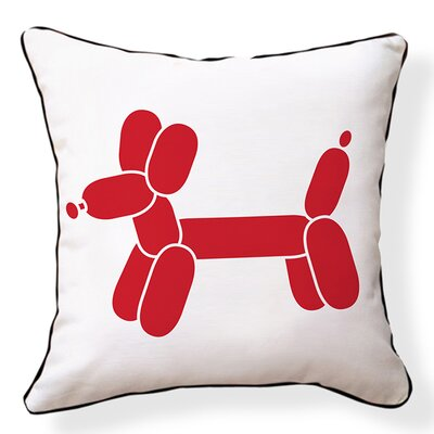 Doxie Balloon Cotton Throw Pillow
