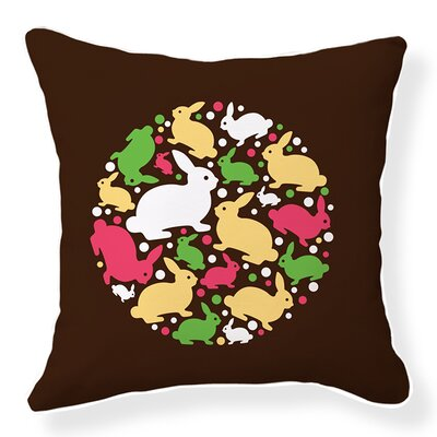 Baby Bunny Cotton Throw Pillow
