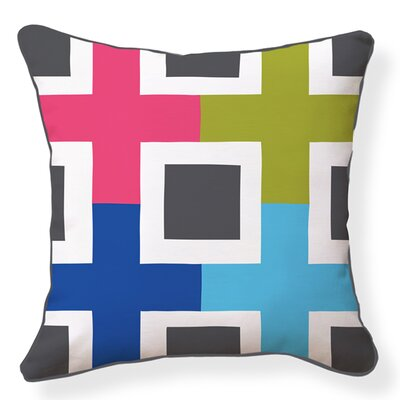 Structure Cotton Throw Pillow
