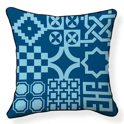 Turkish Tiles Cotton Throw Pillow