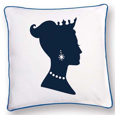 British Invasion Princess Reversible Cotton Throw Pillow