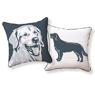Golden Retriever Double Sided Cotton Throw Pillow