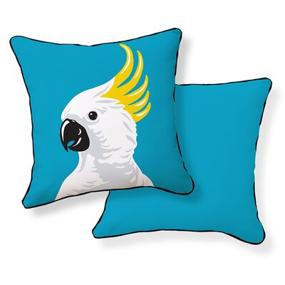 Cockatoo Cotton Throw Pillow