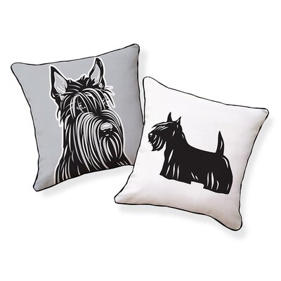 Scottish Terrier Cotton Throw Pillow