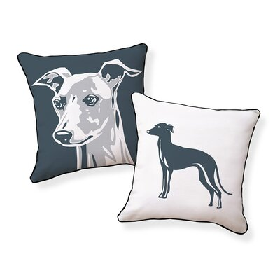 Big Greyhound Cotton Throw Pillow