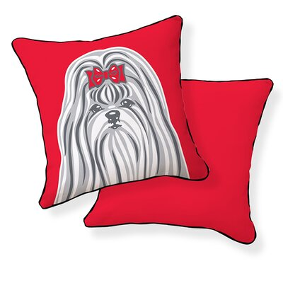 Shih Tzu Cotton Throw Pillow